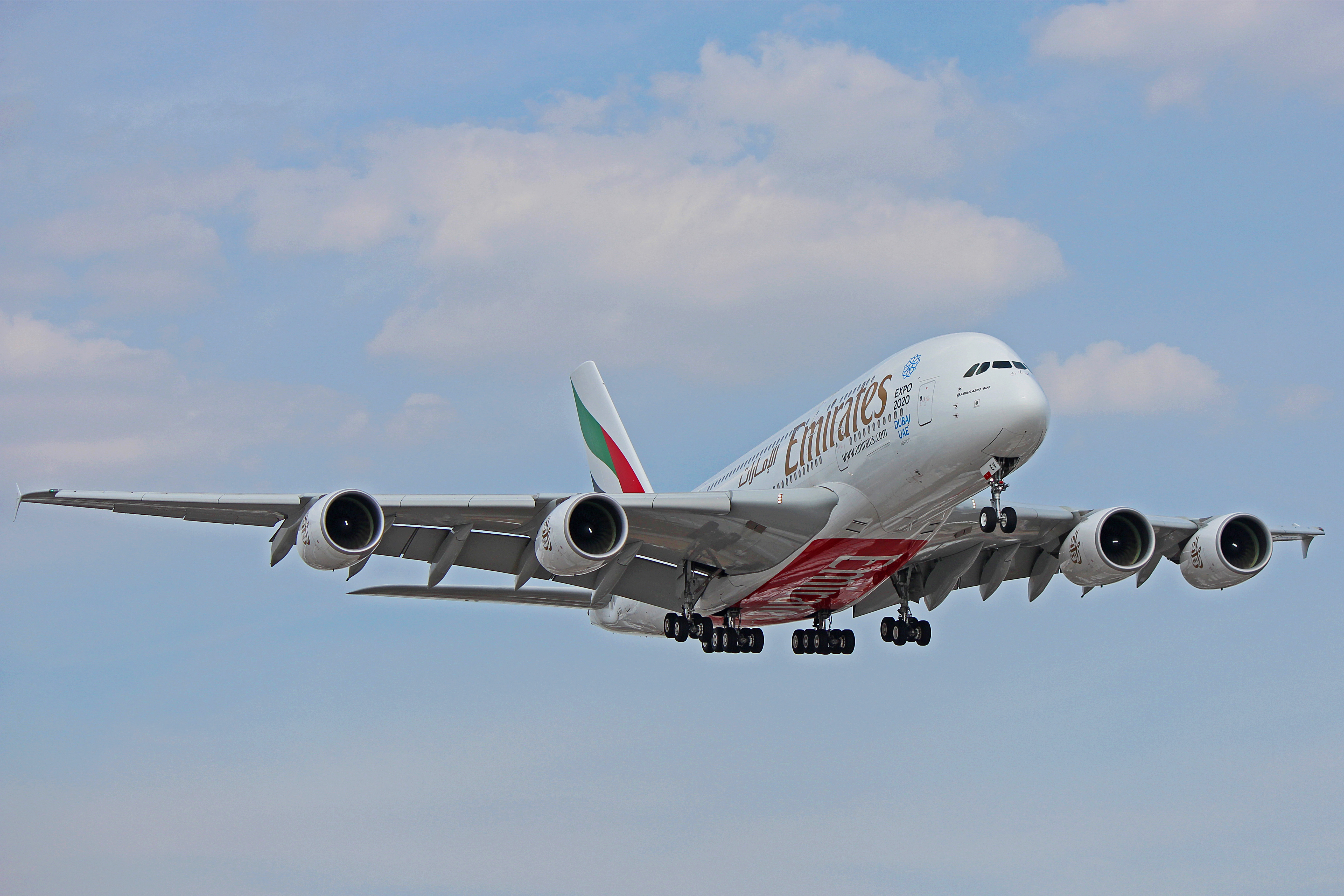 A6 Eev One Of Many Airbus A380 800 In The Emirates Fleet