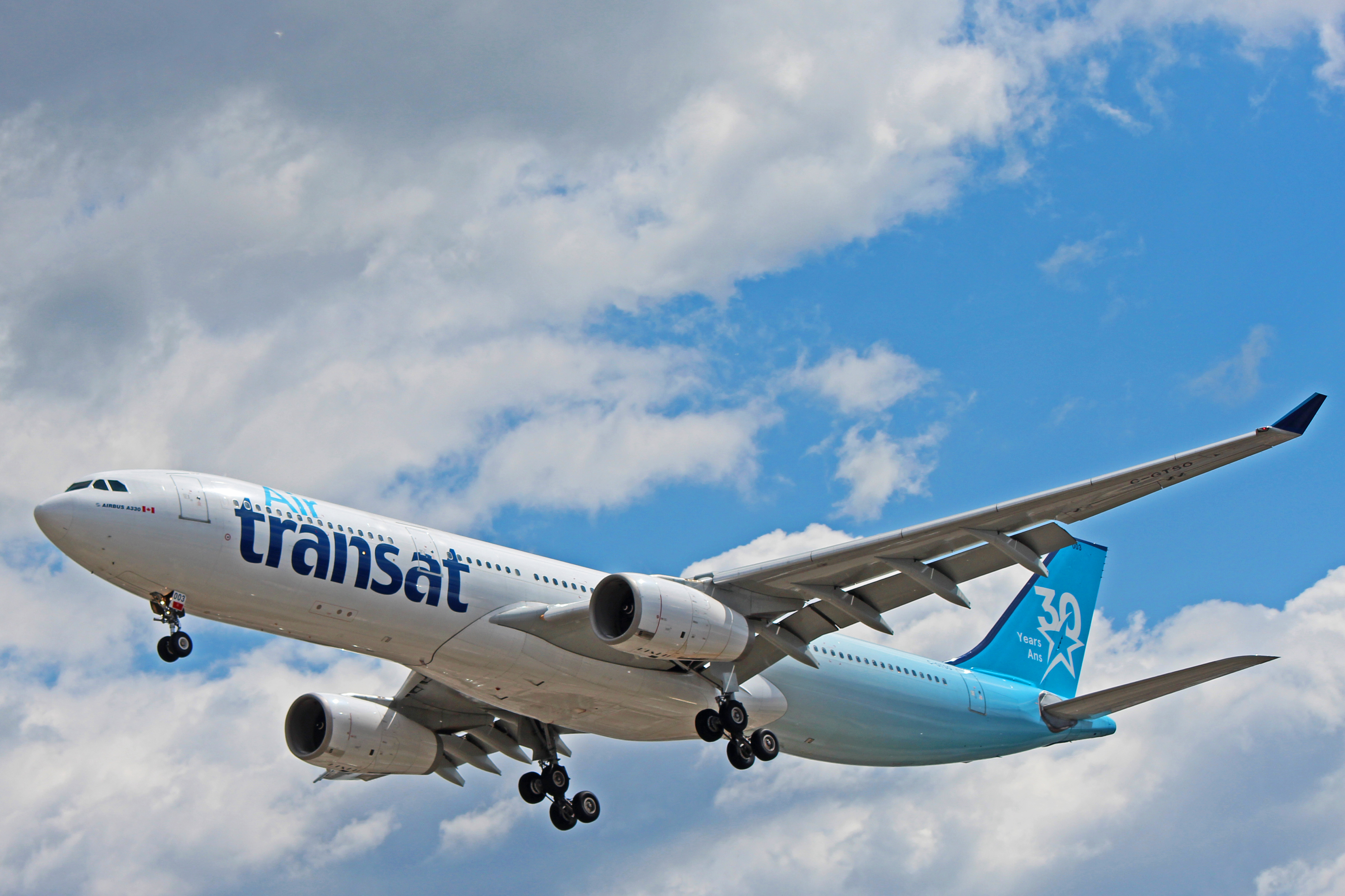 C Gtso Air Transat Airbus A330 300 Started Life With Cathay Pacific