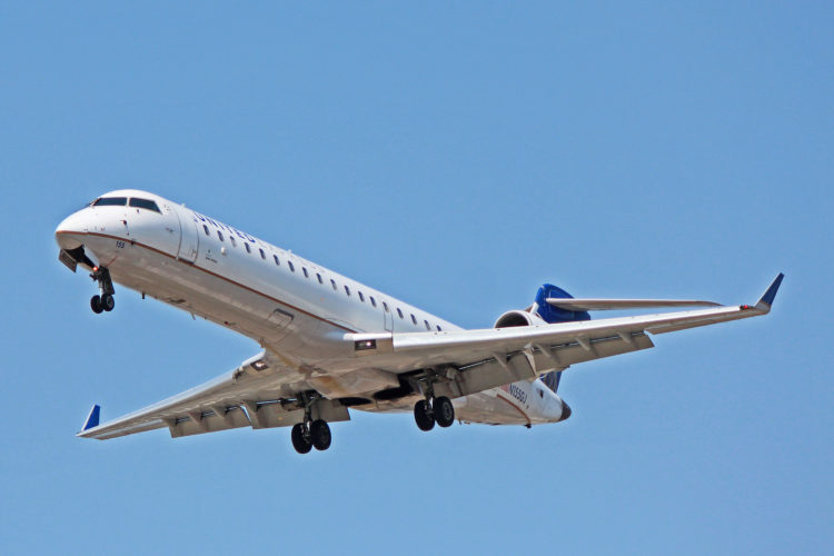 n155gj united express bombardier crj-702 gojet airlines toronto yyz