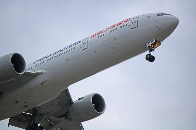 b-7343 china eastern airlines boeing 777-300er toronto pearson yyz