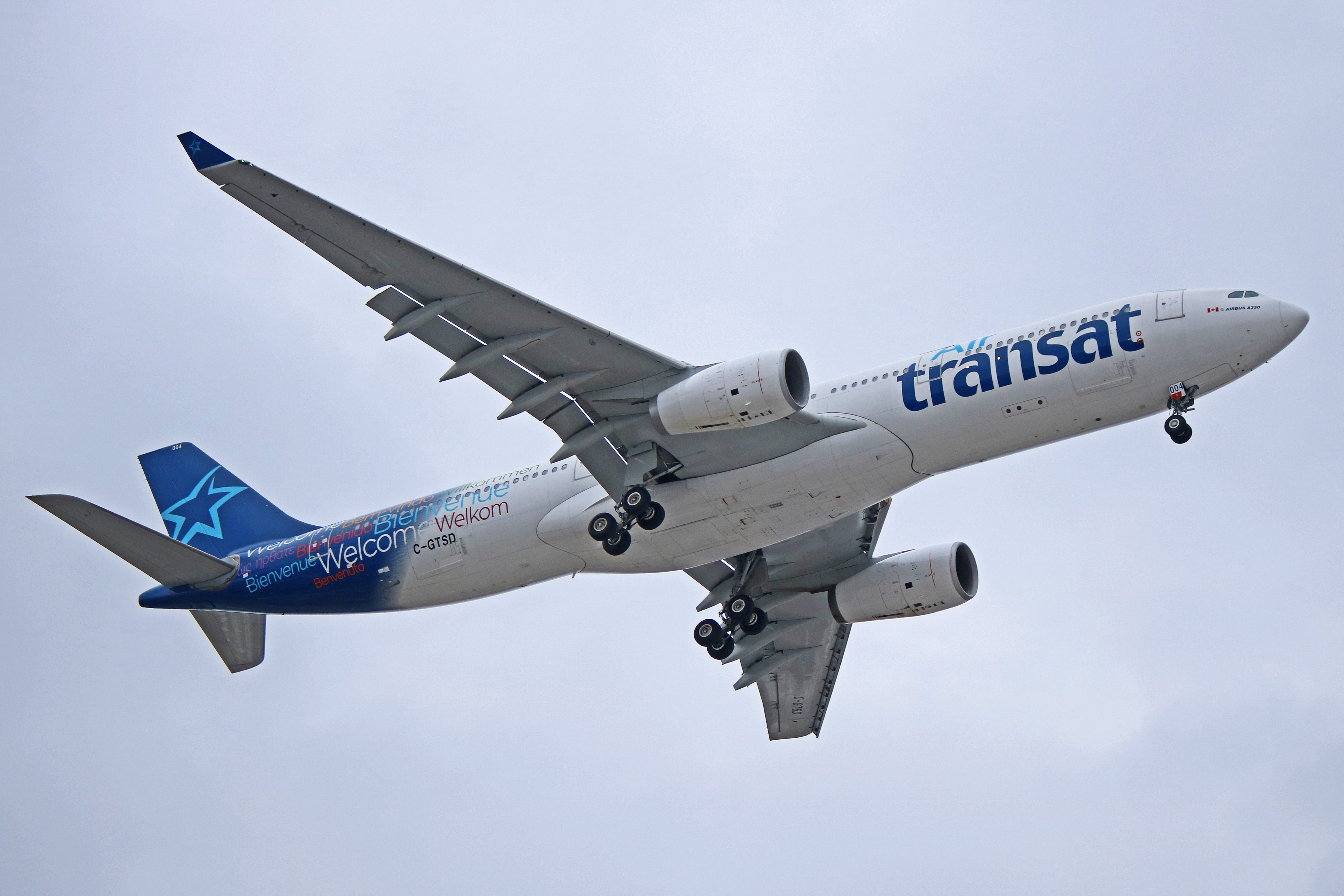 C Gtsd Air Transat Airbus A330 300 Started Life With Cathay Dragon